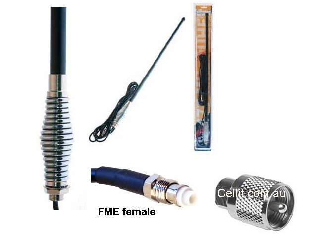 UHF HEAVY DUTY BROOMSTICK ANTENNA - 4.5dB.