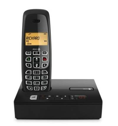 DORO CORDLESS DIGITAL PHONE, ANSWER MACHINE DECT NeoBio25r BLACK